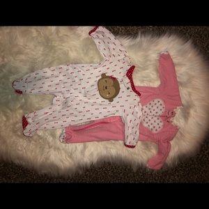 TWO baby girl sleepers